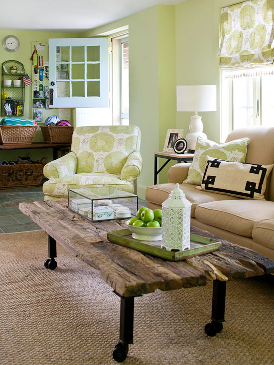 Living Room Color Scheme: Friendly Countryside