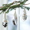 Pinecone Gnome Ornament Trio
