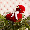 Wool Yarn Bird Ornament