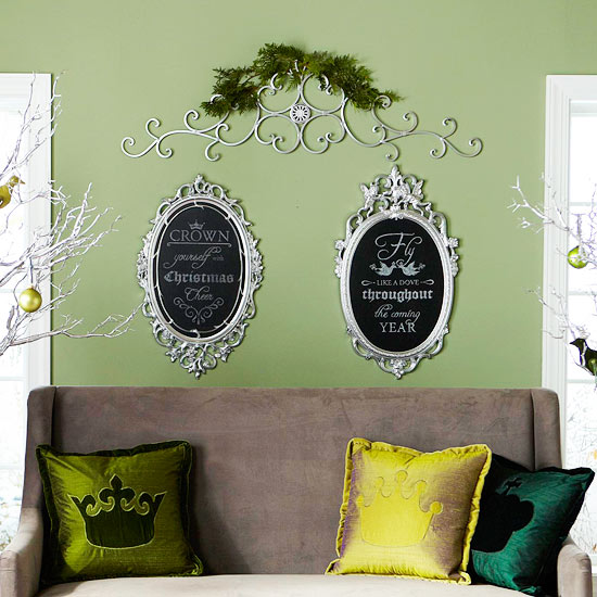 Make Framed Holiday Chalkboard Art