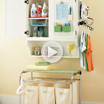 Video: Laundry Room Organization