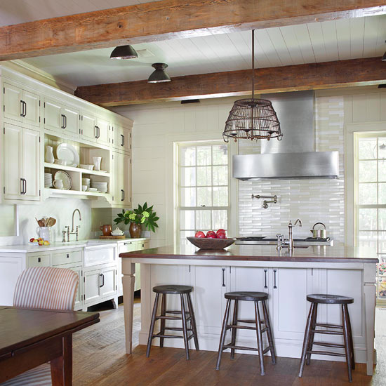 Modern Farmhouse Kitchen Cabinets vintage-inspired farmhouse kitchen