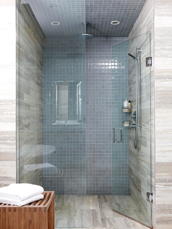 Bathroom shower tile ideas for Shower room floor tiles
