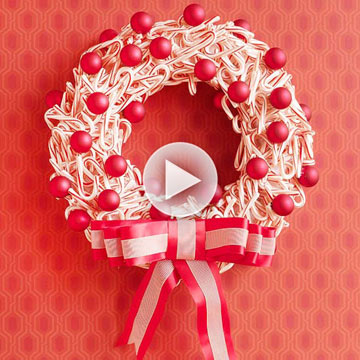 Video: Make a Candy Cane Wreath