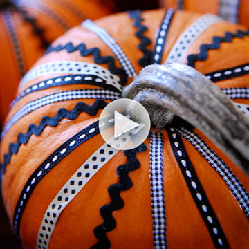 Video: No-Carve Ribbon Pumpkin