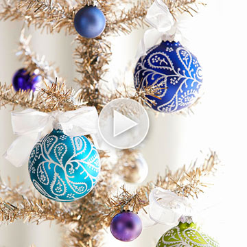 Video: How to Decorate an Ornament