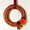 Halloween Colors Wreath
