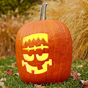 customized pumpkin stencil ideas - Decorated Halloween Pumpkins