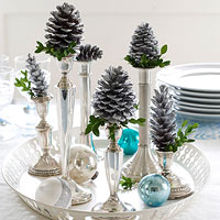 How to Decorate with Silver Ornaments