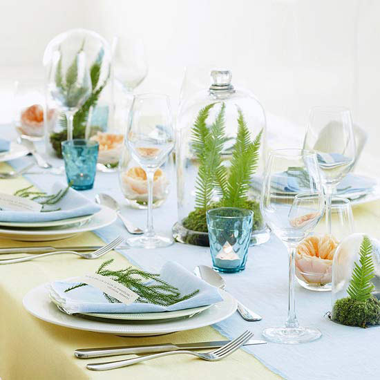 Perfect Pretty Natural Table Setting