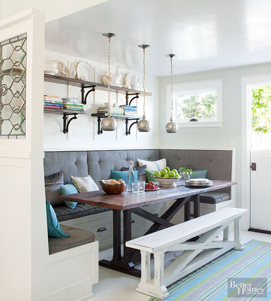 space savvy breakfast room banquettes - Small Kitchen Nook Ideas
