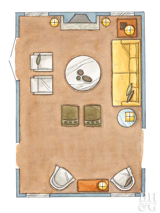 How to arrange furniture like a pro page 2 of 7 for Arrange a room planner