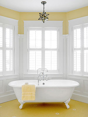 Yellow Bathroom Decorating & Design Ideas