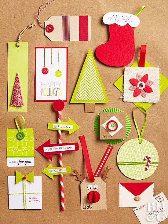 Easy creative holiday gift tags for Creative christmas ideas