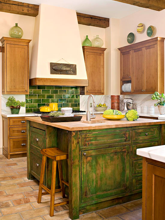 Colorful Kitchen Islands Better Homes And Gardens