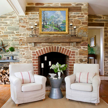 Fresh Ideas for Brick Fireplaces