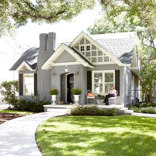 Exterior Small Home Design Ideas: If By Blue You Mean Grey {exterior House Paint Ideas