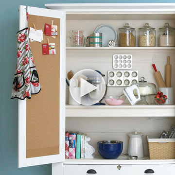 See How to Make a Custom Baking Cabinet
