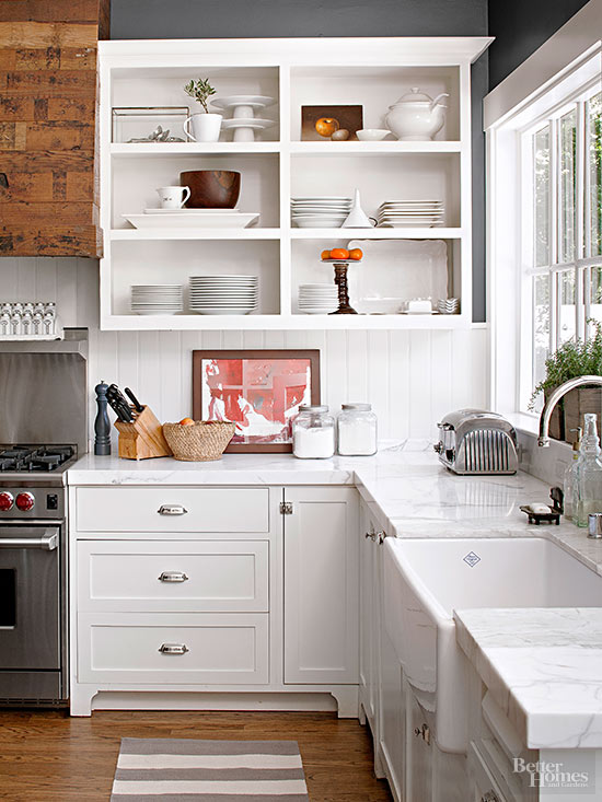 How to Convert Kitchen Cabinets to Open Shelving