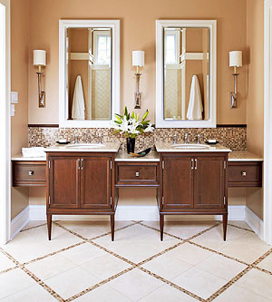 You Also Get More Bang For Your Decorating Buck In A Small Master Bathroom Because Decorative Finishes In Small Doses Pack More Of A Punch