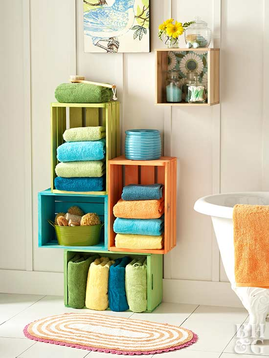 Stacked Bath Storage