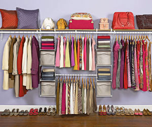 Closet organization systems How to store clothes without a dresser