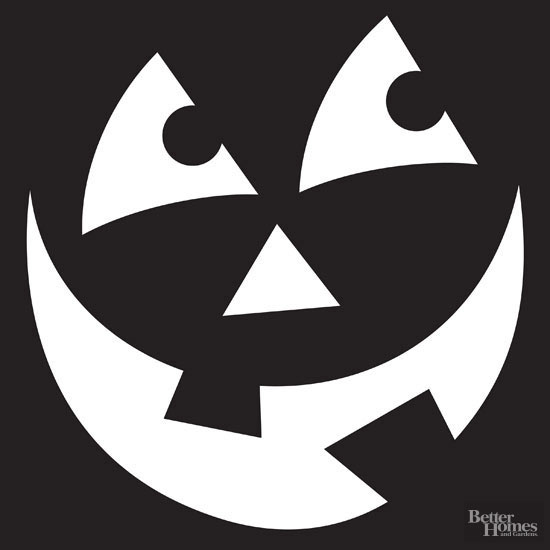 Wide smile pumpkin stencil