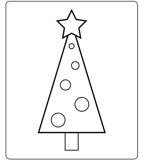 Kids Love Decorating The Christmas Tree This Coloring Page Lets Them Design Their Own Special And Theres No Mess For You