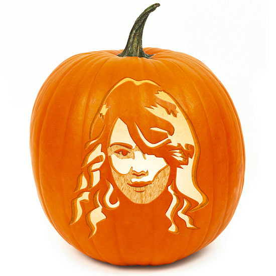 Taylor swift pumpkin stencil for Easy fun pumpkin carving idea