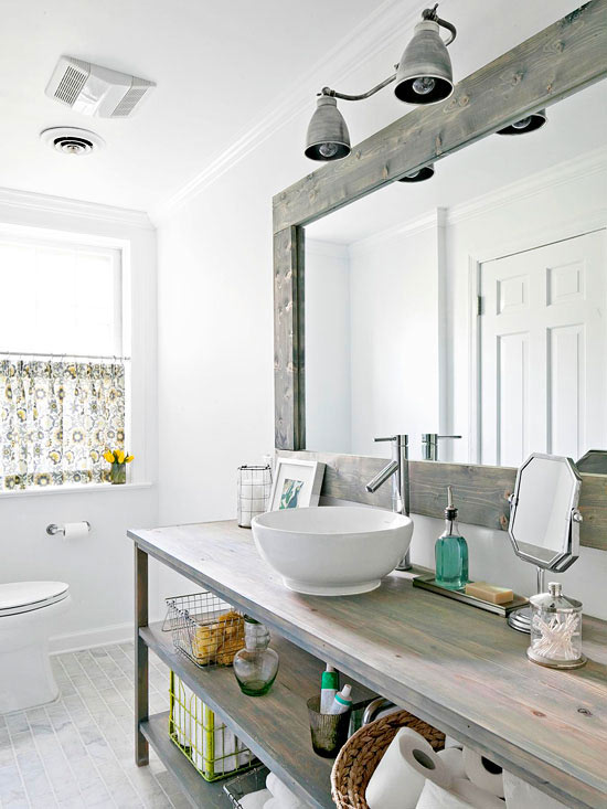 A modern country bath for Images of country bathrooms