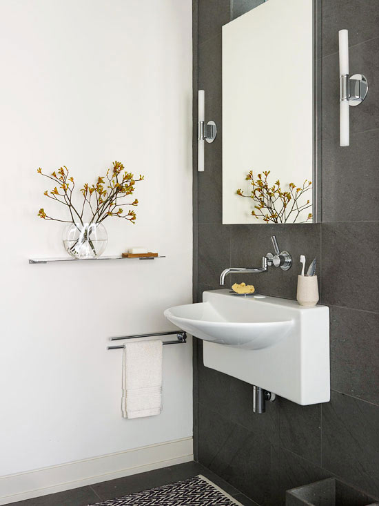Space-Saving Bathroom Vanity
