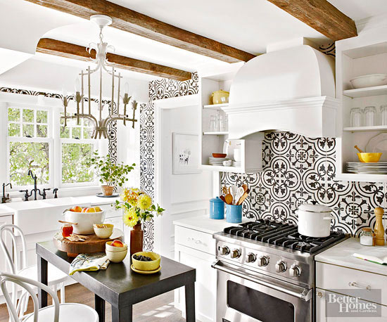 Patterned Kitchen Backsplash