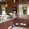 Vanity with Floor-to-Ceiling Cabinets