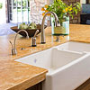 Double-Bowl Kitchen Island Sink