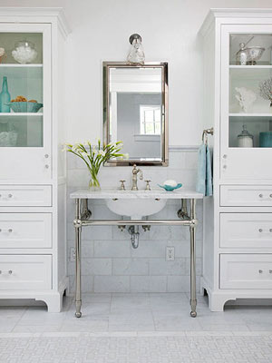 if you have limited or no undersink storage pedestal sinks and open vanities