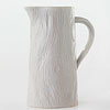 Wood-Inspired Stoneware Pitcher
