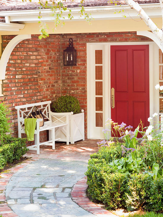 The Best Shades for Red Front Doors