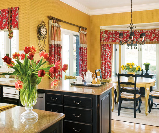 Country Kitchen Colors New Kitchen Style