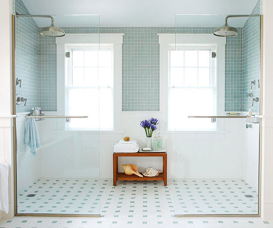 Vintage-Style Bathroom Floor