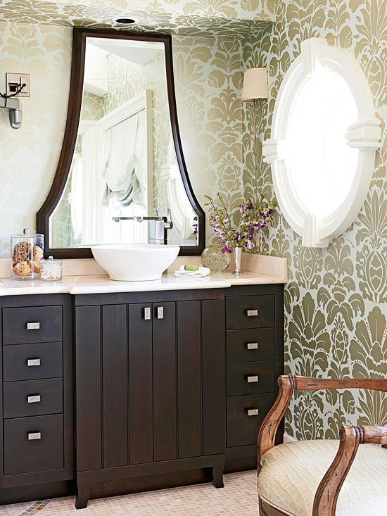 add beauty with a vessel sink - Luxury Master Suite