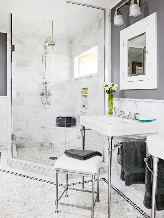 A Mostly Neutral Color Scheme Can Go A Long Way Toward Establishing A  Bathroom Atmosphere Of Serenity And Calm. Again, Rules Of Proportion Apply:  For Two ...