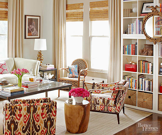 Using Drapes That Closely Match The Wall Color Is Another Easy Decor Trick As Seen In This Living Room