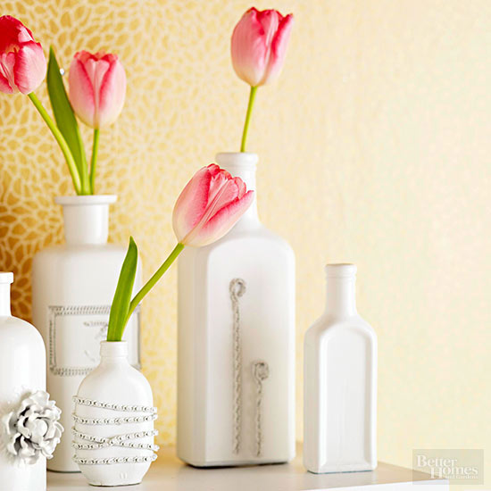 Jewelry-Embellished Vases