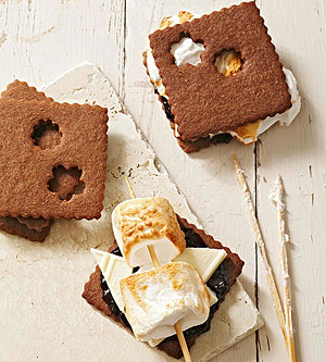 White Chocolate and Jam S'mores