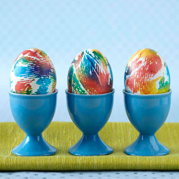 Pretty Dyed Easter Eggs