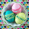 Dyed Lace-Wrapped Easter Eggs