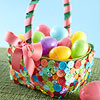 Colorful Button Easter Basket