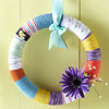 Yarn-Wrapped Spring Color Wreath