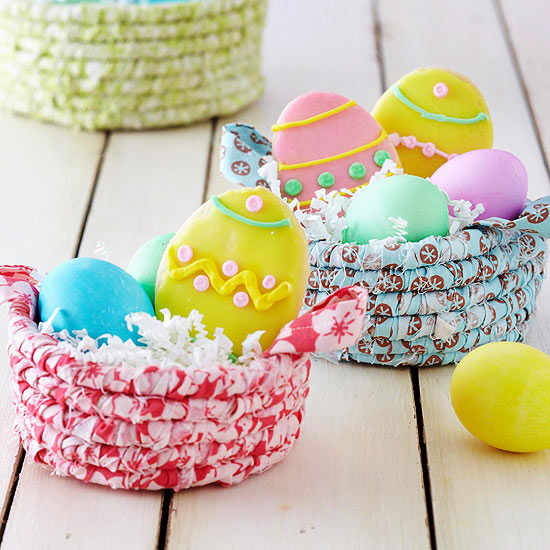 Coiled Fabric Easter Baskets