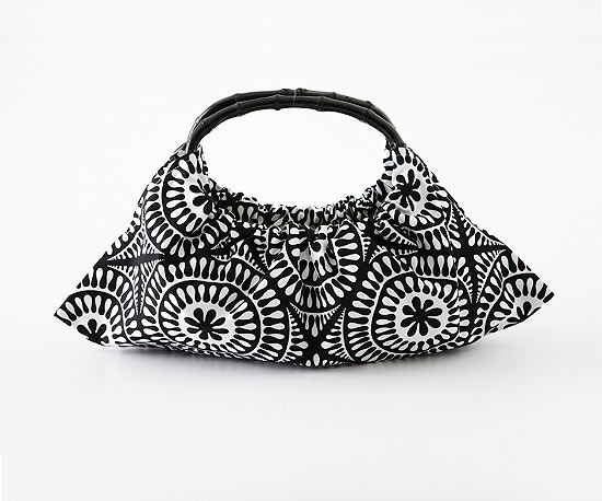 Graphic Black-and-White Purse